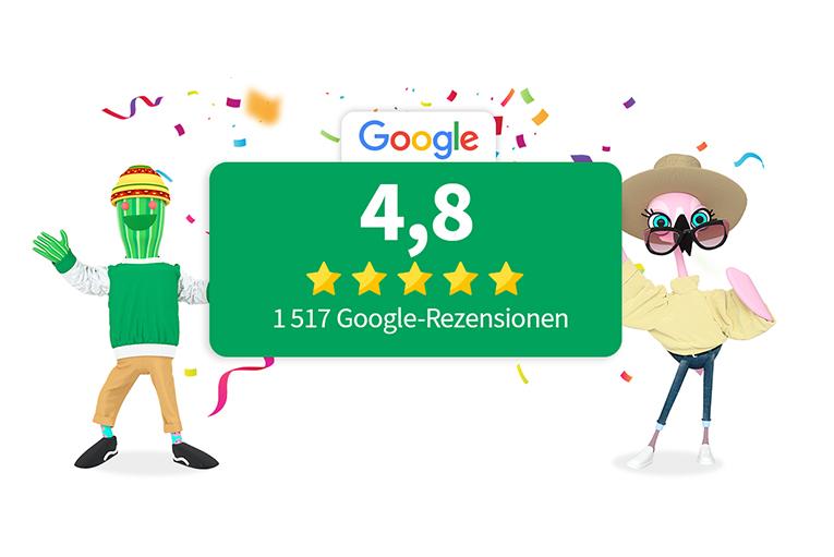 Gibt es einen Mobilfunkanbieter mit 4,8 Sternen auf Google?